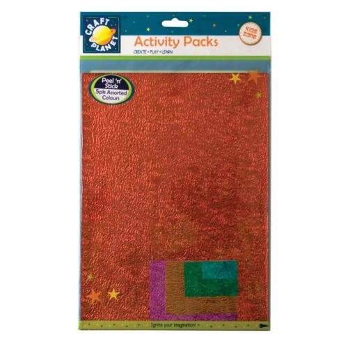 Craft Planet A4 Peel 'N' Stick Embossed Paper Metallic (5pk)
