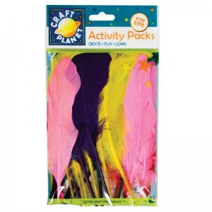 Craft Planet Duck Quill Feathers (7g) - Assorted Colours