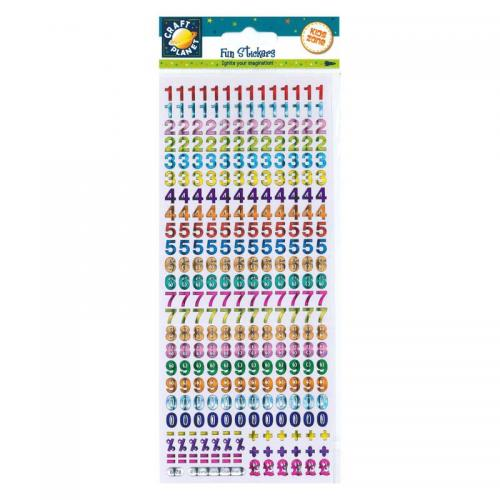 Craft Planet Fun Stickers - Holographic Numbers