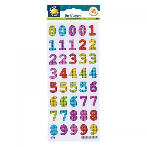 Craft Planet Fun Stickers - Bold Reflective Numbers