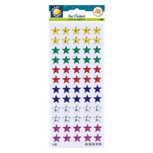 Craft Planet Fun Stickers - Holographic Stars