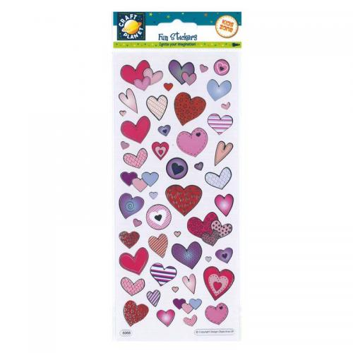 Craft Planet Fun Stickers - Love Hearts