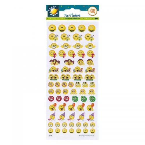 Craft Planet Fun Stickers - Smilies