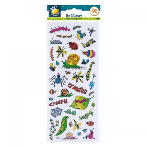 Craft Planet Fun Stickers - Bugs