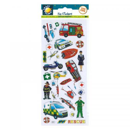 Craft Planet Fun Stickers - Rescue Vehicles