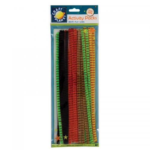 Craft Planet Chenille Striped Stems (20pk)