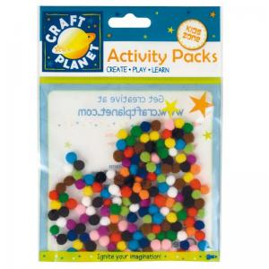 Craft Planet Pompoms (5g, 7mm Diameter)