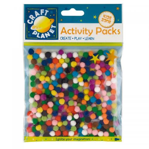 Craft Planet Pompoms (9g, 7mm Diameter)