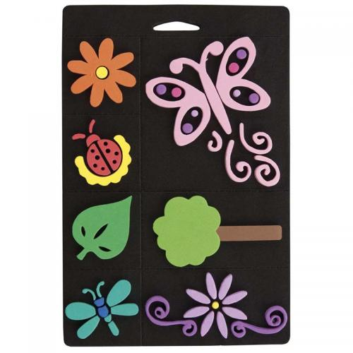 Craft Planet Foam Stamp Set - Flowers & Bugs