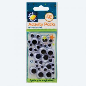 Craft Planet Wiggle Eyes (40pcs) Round  (Assorted Sizes)