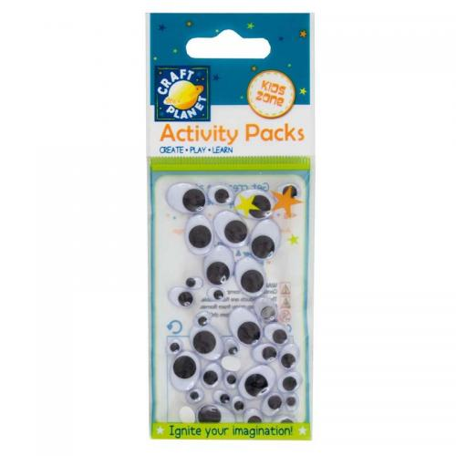 Craft Planet Wiggle Eyes (36pcs) Oval (Assorted Sizes)