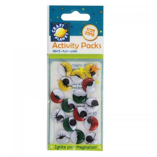 Craft Planet Wiggle Eyes (16pcs) Round (15mm)