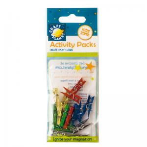 Craft Planet Mini Pegs Metallic (15pcs)