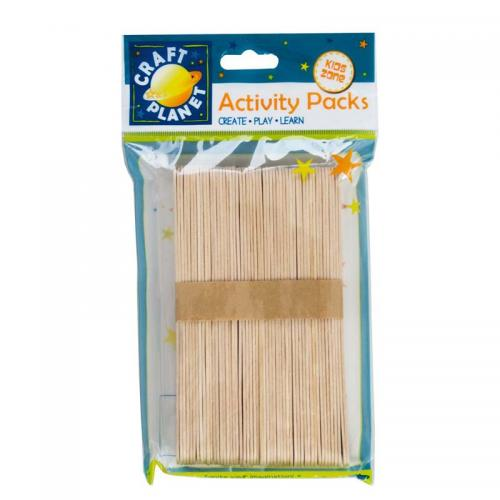 Craft Planet Lollipop Sticks (approx. 50pcs) - Extra Large
