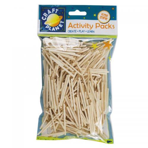 Craft Planet Matchsticks (approx. 500pcs, 50g)