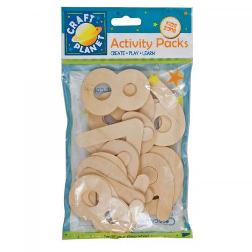 Craft Planet Wooden Numbers (20pcs)