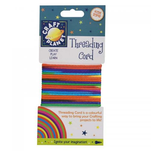 Craft Planet 3m Cord (2mm Diameter) - Rainbow