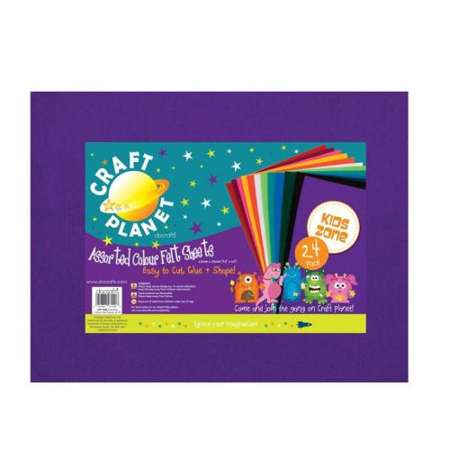 "Craft Planet 9 x 12"" Acrylic Felt Value Pack"