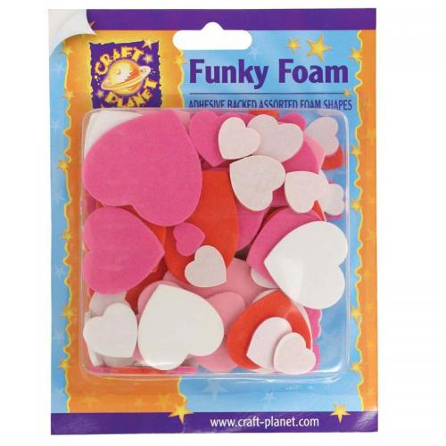 Craft Planet Funky Foam Assorted Pack - Heart