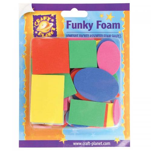 Craft Planet Funky Foam Assorted Pack - Shapes