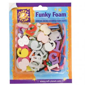 Craft Planet Funky Foam Assorted Pack - Number