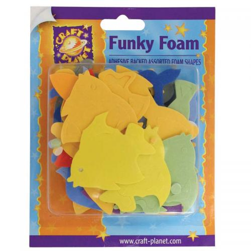 Craft Planet Funky Foam Assorted Pack - Dolphins & Fish