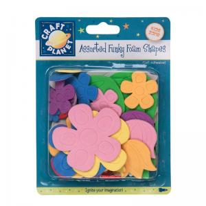 Craft Planet Funky Foam Assorted Pack - Flowers