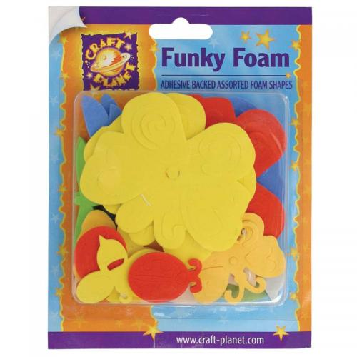 Craft Planet Funky Foam Assorted Pack - Butterflies & Bugs