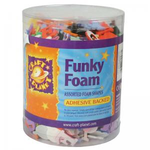 Craft Planet Funky Foam Tub - Letters/Numbers