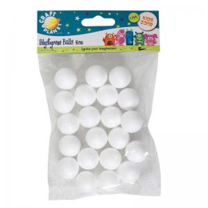Craft Planet 2cm Polystyrene Balls (20pcs)
