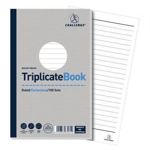 Challenge Carbonless Ruled - Taped Triplicate Book