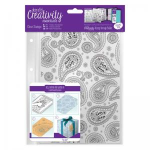 CE A5 Clear Stamp Set (1pcs) - Paisley Background