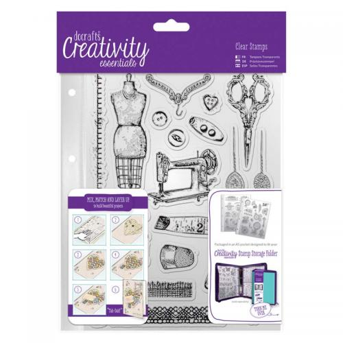 CE A5 Clear Stamp Set (19pcs) - Haberdashery
