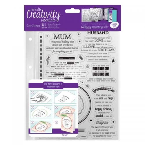 CE A5 Clear Stamp Set (30pcs) - Verses