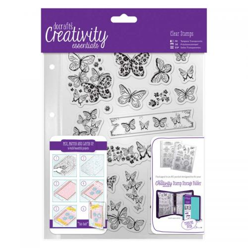 CE A5 Clear Stamp Set (16pcs) - Butterflies