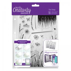 CE A5 Clear Stamp Set (15pcs) - Meadow