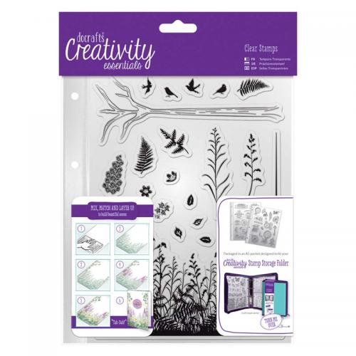 CE A5 Clear Stamp Set (20pcs) - Forest