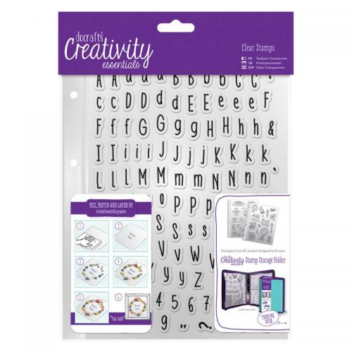 CE A5 Clear Stamp Set (128pcs) - Alphas Folk