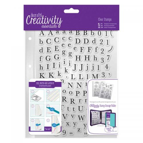 CE A5 Clear Stamp Set (129pcs) - Alphas Trad