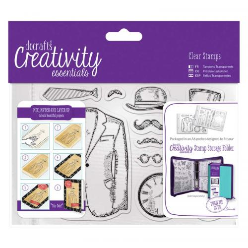 CE A6 Clear Stamp Set (11pcs) - Mister