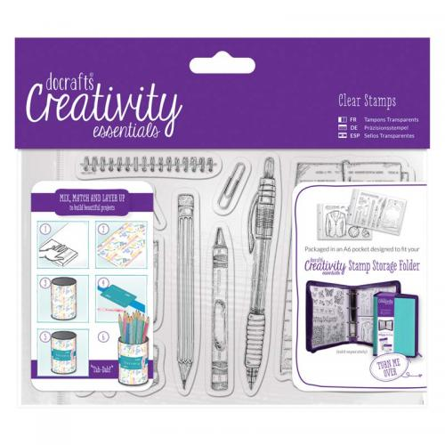 CE A6 Clear Stamp Set (12pcs) - Stationery