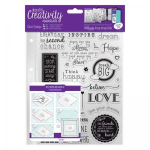 CE A5 Clear Stamp Set (31pcs) - Inspirational Sentiments