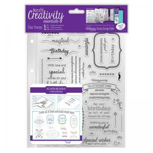 CE A5 Clear Stamp Set (39pcs) - Birthday Verses