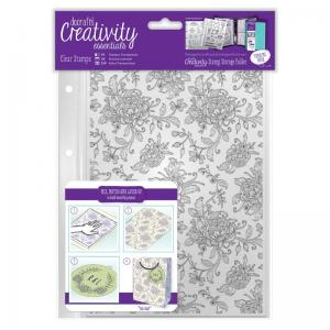 CE A5 Clear Background Stamp (1pc) - Floral Background