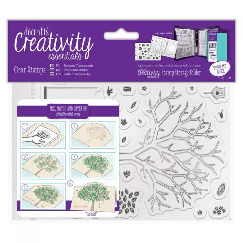 CE A6 Clear Stamp Set (30pcs) - Build A Tree
