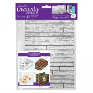 CE A5 Clear Stamp Set (1pcs) - Wooden Boards Background