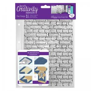 CE A5 Clear Stamp Set (1pcs) - Brickwork Background