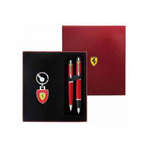 Ferrari 300 Fountain Pen, Ballpoint & Keyring Set