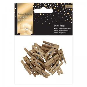 Forever Friends Mini Pegs (24pcs) - Classic Decadence - Gold