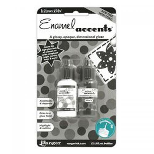 Ranger Enamel Accents - Black & White Set